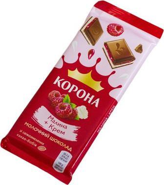 Шоколад Корона малина-крем 85гр