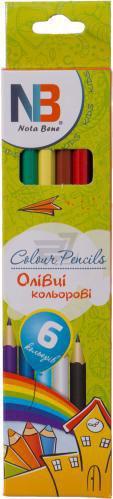 Олівці кольорові 6 шт. пластик Nota Bene