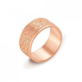 Обручальное кольцо с алмазной гранью. Артикул 10101/3