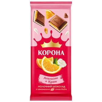 Шоколад Корона апельсин-крем 85г