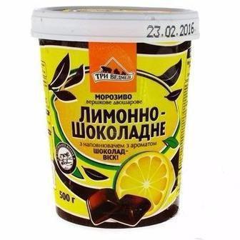 Морозиво зі смаком Фісташки або Лимонно-Шоколадне  Три Ведмеді  500 г