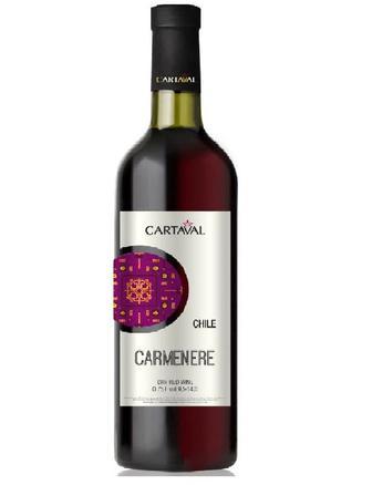 Вино Cartaval Carmenere красное сухое 0.75л