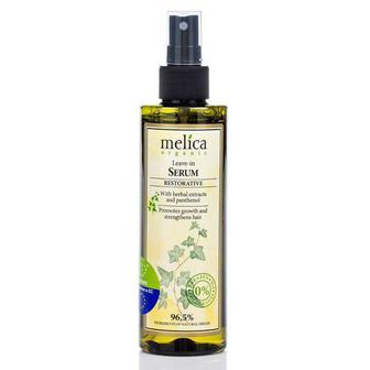 Закрепляющая сыворотка для волос Melica с растительными экстрактами и пантенолом, не требует смывания, 200 мл