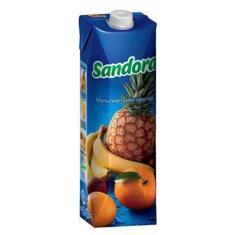 Сіки та нектарм Мультивітамін, томатний, персик, чорна смородина, яблучний, овочевий Сандора 0,95л