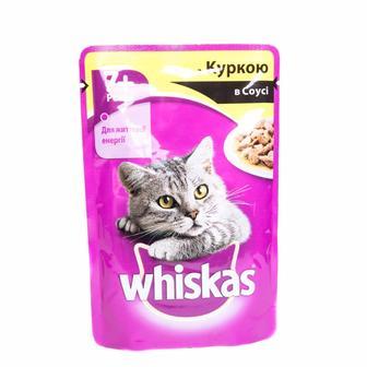 Корм для котов Whiskas 7лет+ с курицей в соусе, 100 г