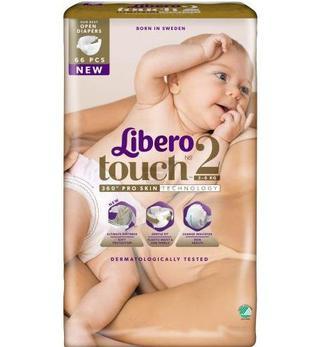 Підгузки Libero Touch Розмір 2 (3-6 КГ) 66 шт