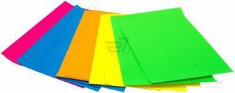 Папір кольоровий Неон 10 аркушів 5 кольорів А4 VGR