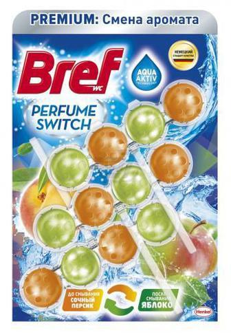 Блок з очисним засобом для унітаза Bref Персик-Яблуко 150 г