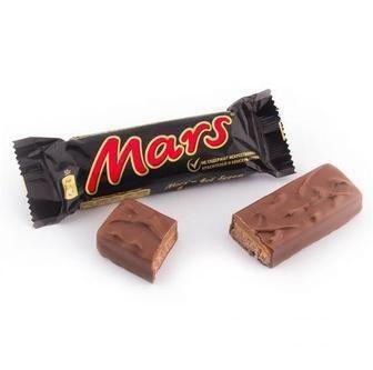 Шоколадні батончики Mars 1шт