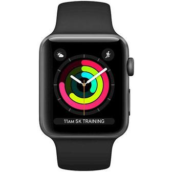 Скидка 14% ▷ Смарт-часы APPLE Watch Series 3 GPS 42mm Space Grey Aluminum Case with Black Sport Band