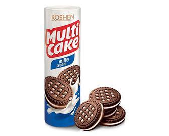 Печиво Roshen Multicake з молочно-кремовою начинкою, 180г