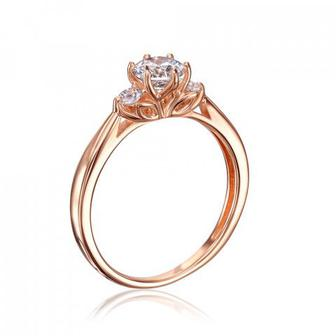 Золотое кольцо с фианитами Swarovski. Артикул 13258/01/0/1262