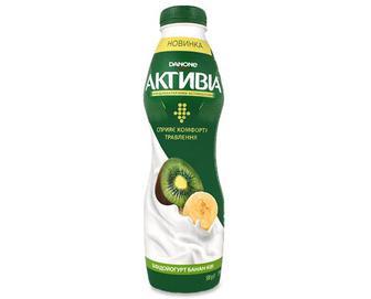 Біфідойогурт «Активіа» банан-ківі 1,5% жиру, 580г