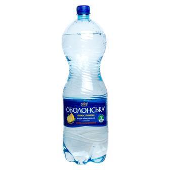 Мінеральна вода Оболонська плюс лимон Оболонь 2л