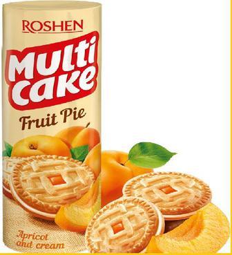 Печиво Multicake абрикос-крем Рошен 195г