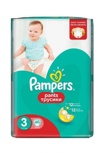 Детские Подгузники-трусики PAMPERS Pants р3 6-11кг 60 шт