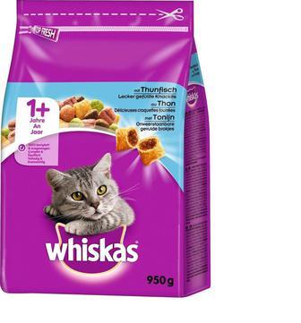 Корм для котів Whiskas з тунцем сухий, 950 г