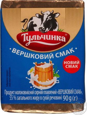 Продукт сырный плавленый Сливочный вкус 55% Тульчинка, 90г