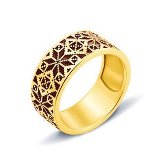 Золотое кольцо Звезда Алатырь