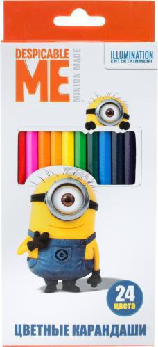 Олівці кольорові 24 шт. © Universal Studios Despicable Me