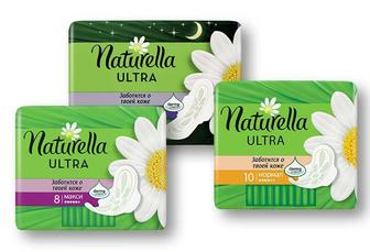 Прокладки гігієнічні Ultra Camomile Night, 7 шт. Ultra Camomile Maxi, 8 шт. Ultra Camomile Normal, 10 шт. Naturella