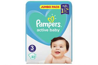 Підгузки Pampers Active Baby Midi 6-10 кг, 82 шт./уп