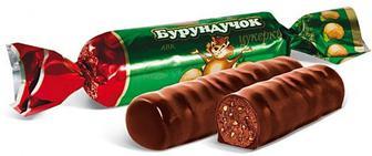 Цукерки Бурундучок шоколадне пралін, АВК, кг
