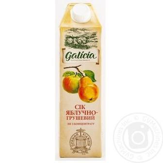 Сік яблучно-грушевий Galicia 1л