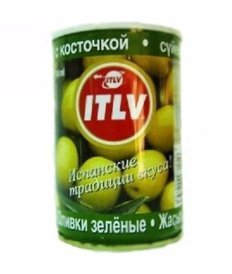 Оливки зеленые без косточки ключ ITLV 314мл