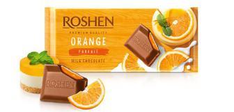 Шоколад молочний з начинкою Апельсинове парфе Рошен 90г