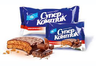 Печенье шоколадный вкус, с кокосом, орехом Супер-Контик 100 г