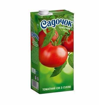 Сок томатный с солью Садочок 0,95л