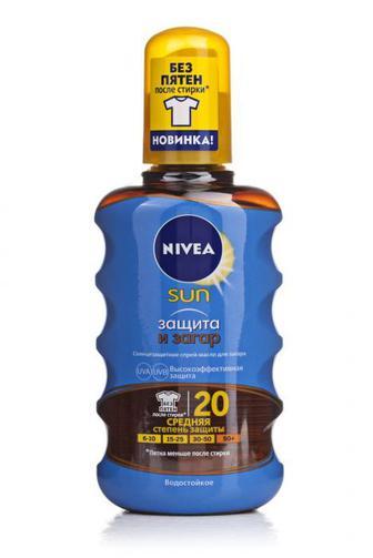 Спрей-масло для загара Нивея Сан SPF 20 200мл