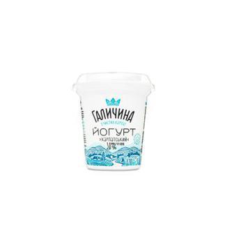 Йогурт Галичина Карпатський без цукру 3,0% ст 280г