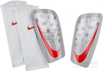 Щитки футбольні Nike NK MERC LT GRD р. M сірий