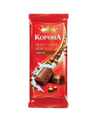 Шоколад Корона пористий мол.90г