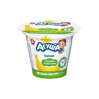 Йогурт Агуша банан 90г