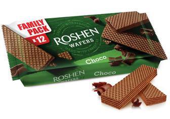 Вафлі Roshen Wafers шоколад 216г