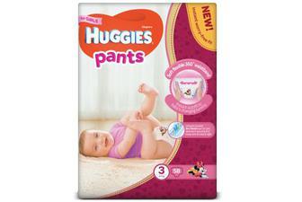 Підгузки-трусики Huggies Pants для дівчаток 3 (6-11 кг) 58шт./уп