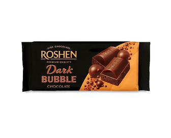 Шоколад екстрачорний Roshen, пористий, 80г