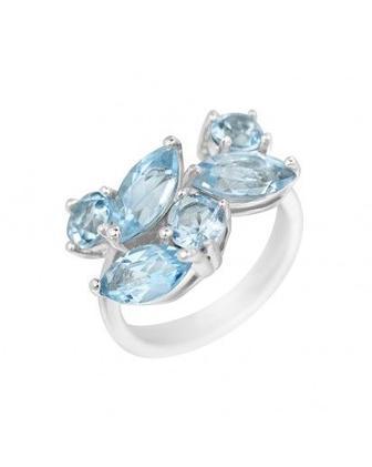 Кольцо с камнем топаз