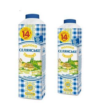 Молоко пастеризоване 2,5% Селянське 950г