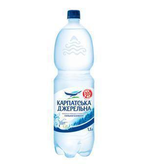 Вода Карпатська Джерельна сильногаз. 1,5л
