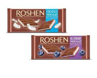 Шоколад Roshen молочний з нугою 90г