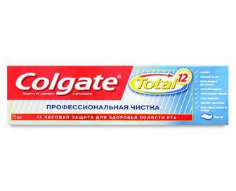 Паста зубна Colgate Total 12 «Професійне чищення» 75мл