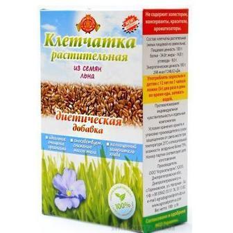 Клітковина рослинна з висівок гречки, з насіння льону Агросільпром 190г