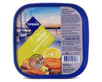 Мідії мариновані з лимоном «Премія»® 200 г