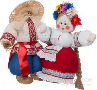 Ляльки інтер'єрні Весільна пара 58х54 см