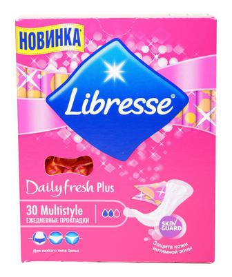 Прокладки щод Libresse Daily Fresh Multistyle Plus, 30 шт.уп