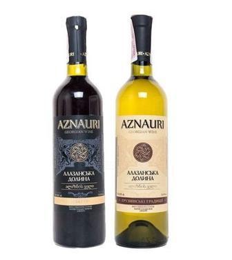 Вино Саперави, Алазанская Долина Азнаури красн. п/с, сухое, 0,75 л